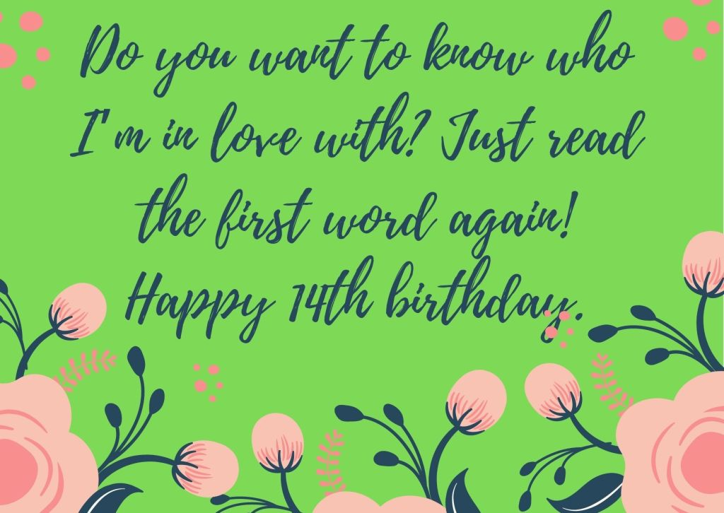 Cutest 14th Birthday Wishes For Boy Or Girl From Mother