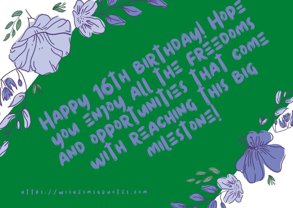 16th Birthday Quotes From Class fellow To Boy Or Girl