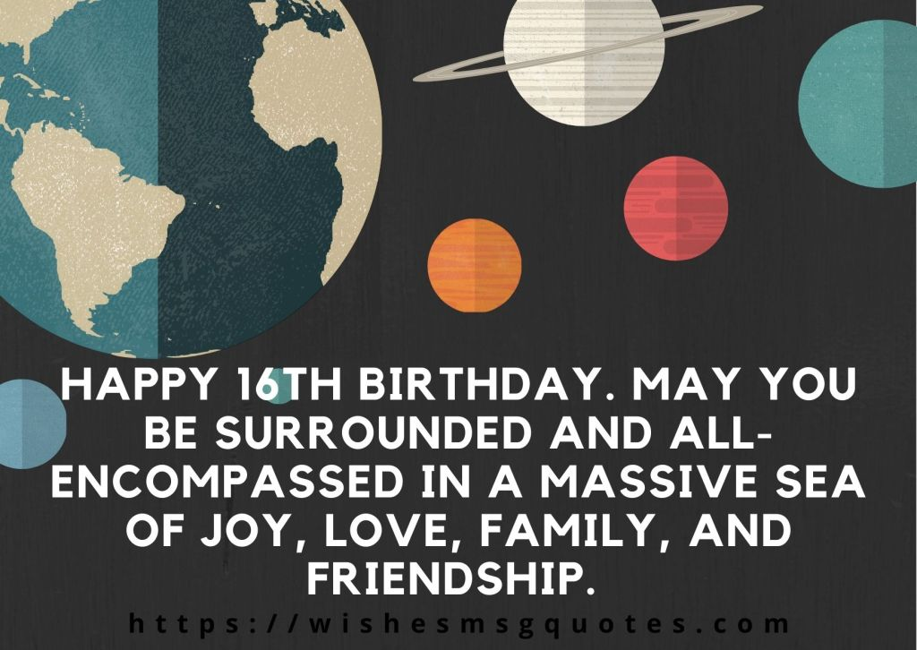 Happy 16th Birthday Quotes For Boy And Girl