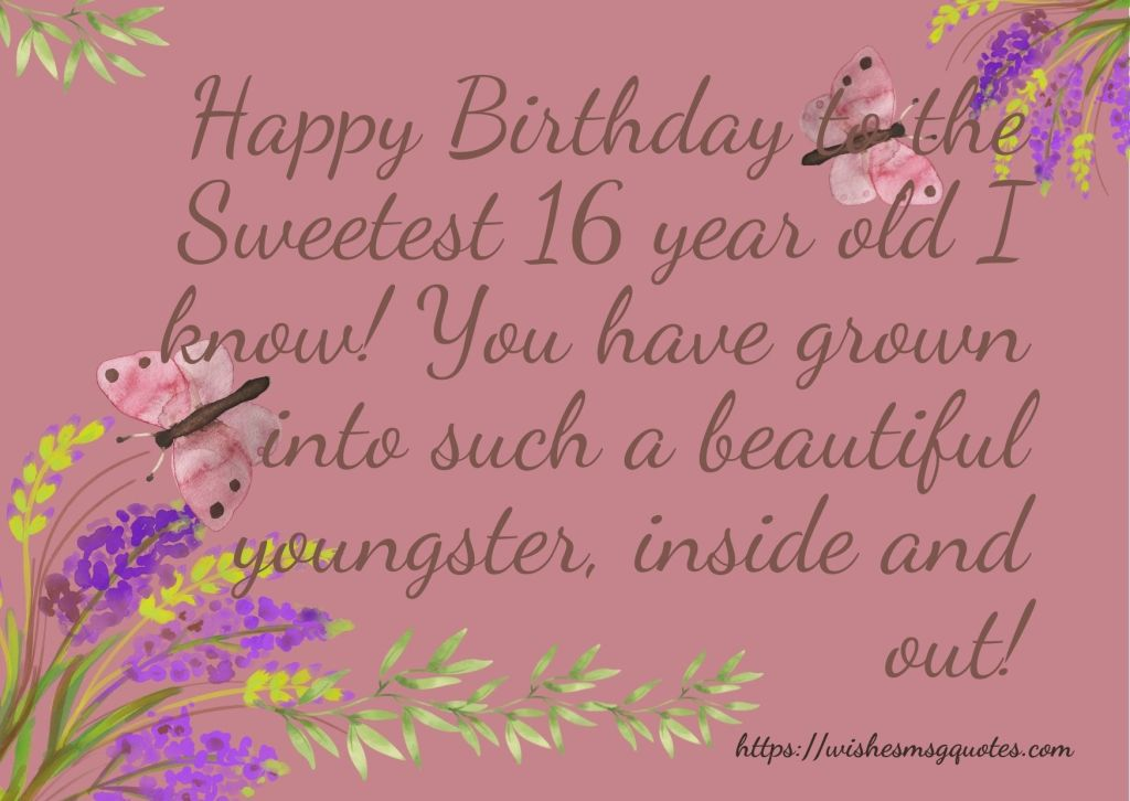 16th Birthday wishes From Sister To Boy Or Girl