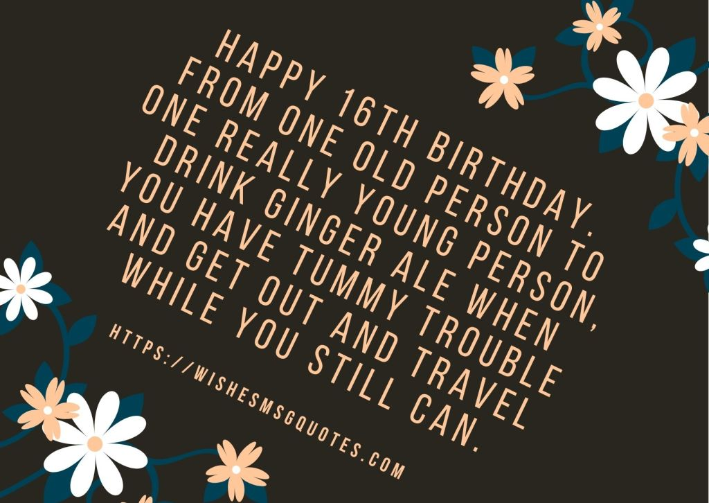 16th Birthday Quotes From Sister To Boy Or Girl