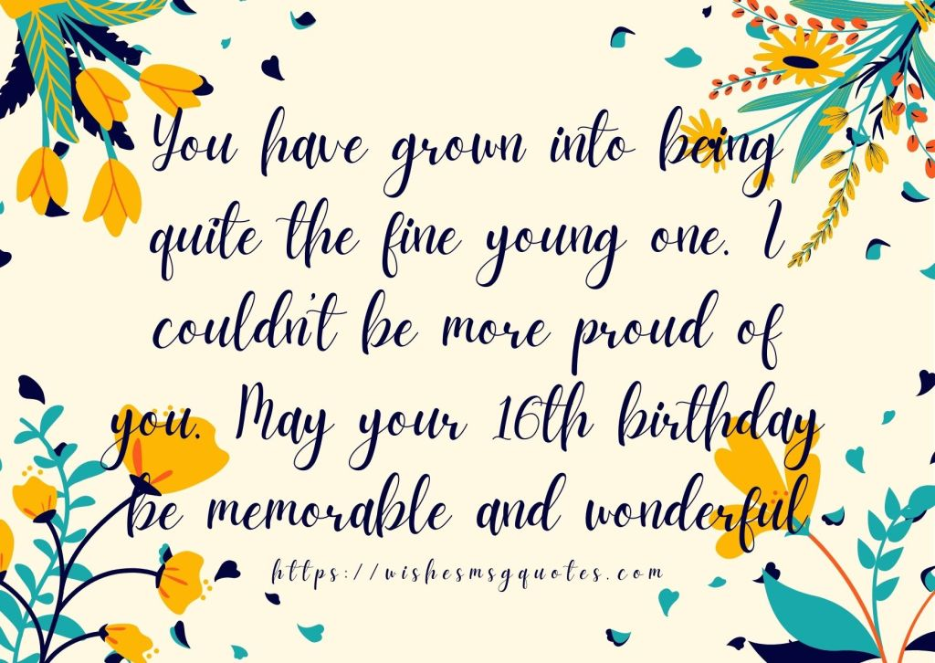 Happy 16th Birthday Quotes From Parents