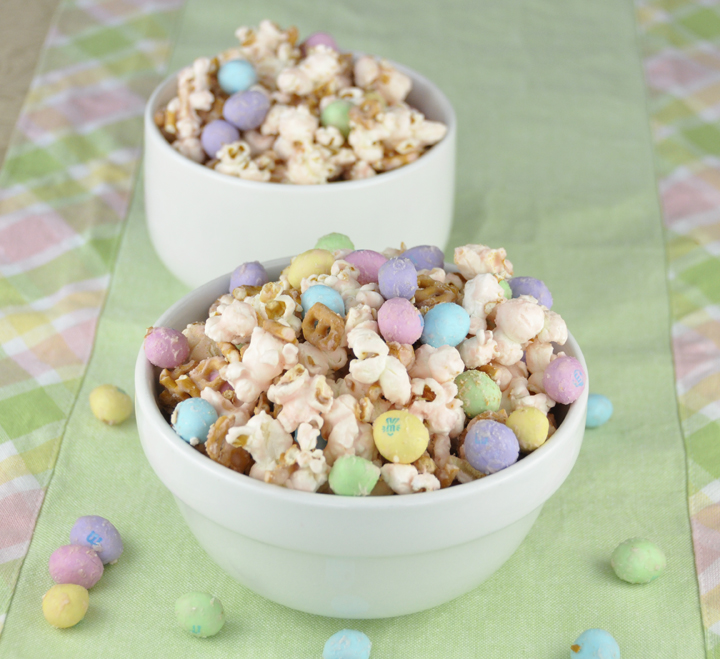 Salted Caramel Easter Popcorn Wishes And Dishes