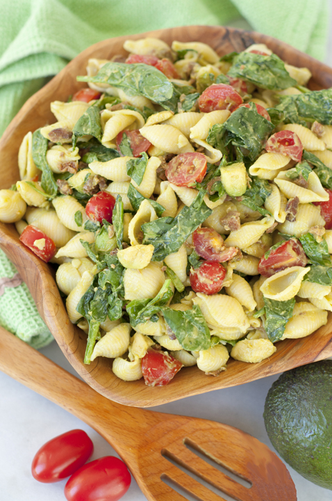 Avocado BLT Pasta Salad {Wishes & Dishes}