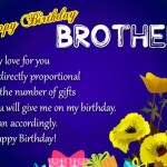 Brother Birthday Wishes And Greetings 2017