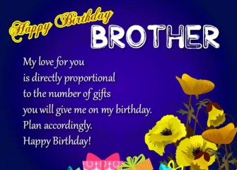 Amazing Birthday Wishes for Brother
