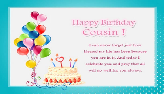 Happy Birthday Wishes For Cousin Quotes With Sms 2021 Latest Wishes Quotz