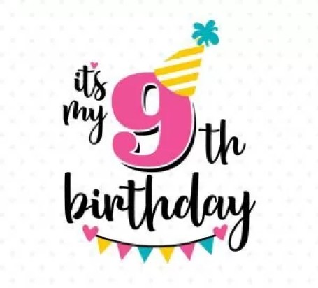 Image result for happy 9th birthday