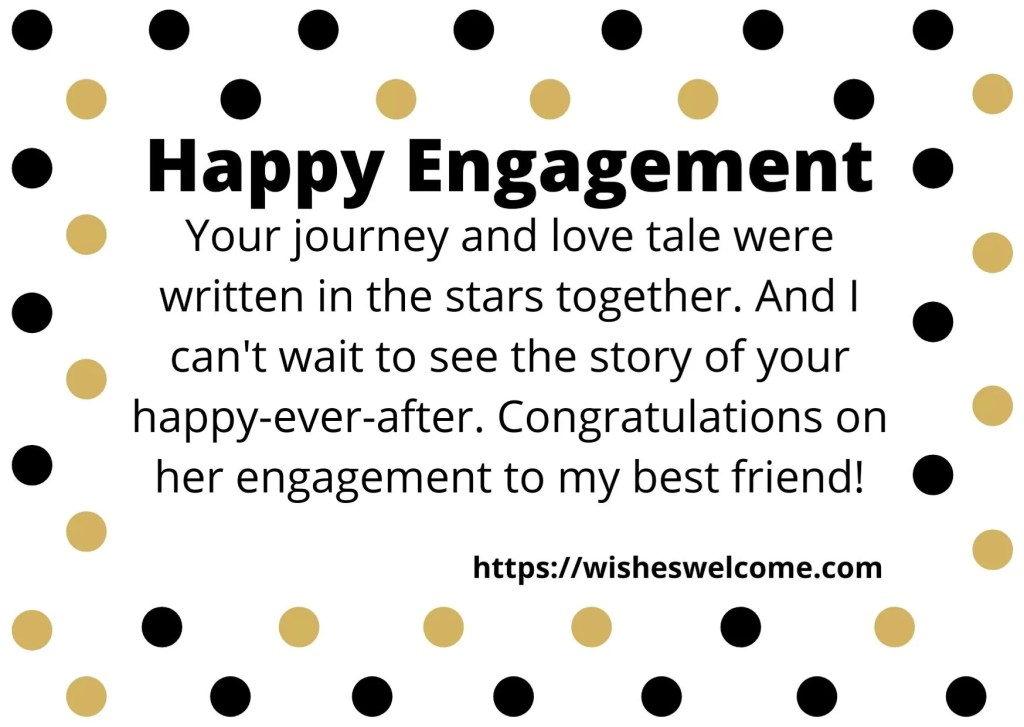 happy engagement dear friends