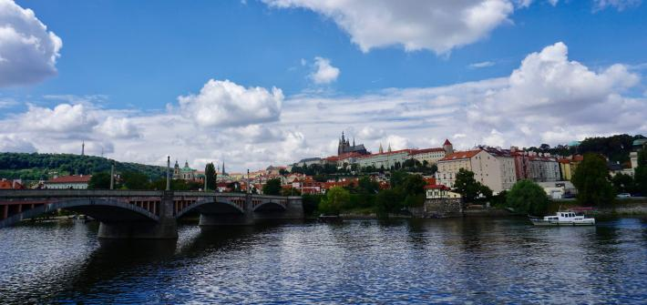 A view of Prague and the river