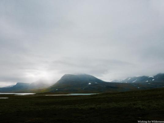 A cloudy day in the mountains on the Kungsleden
