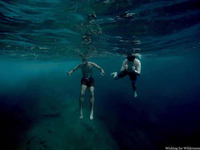two people snorkelling