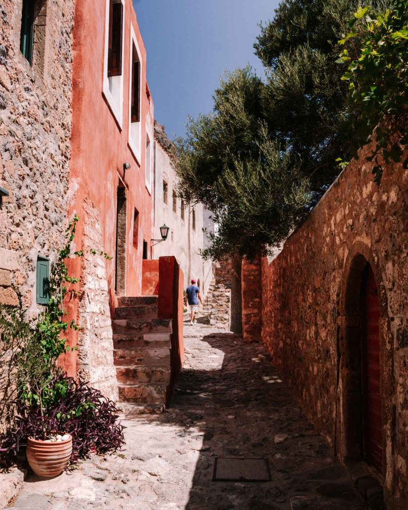 Medieval street in Monemvasia Peloponnese