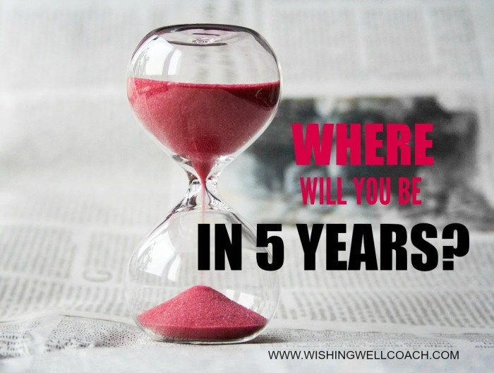 where will you be in 5 years answer