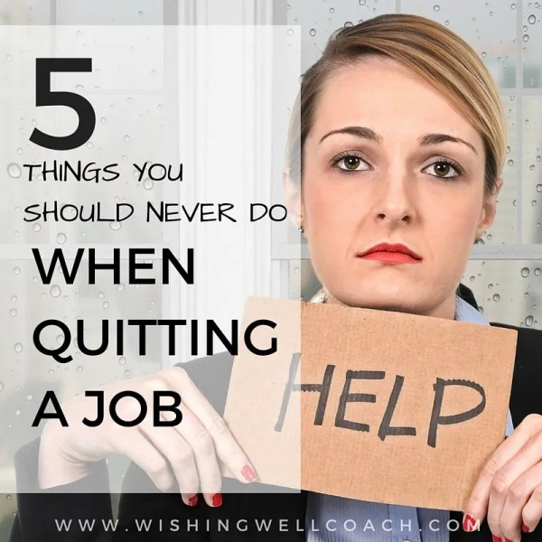 quitting a job