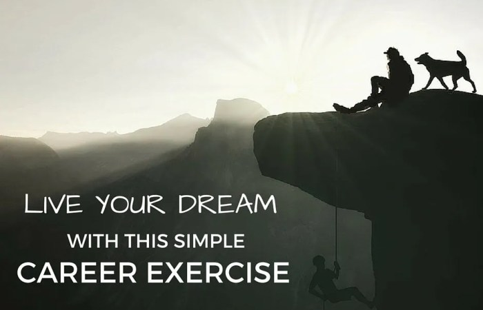 Live Your Dream With This Simple Career Exercise
