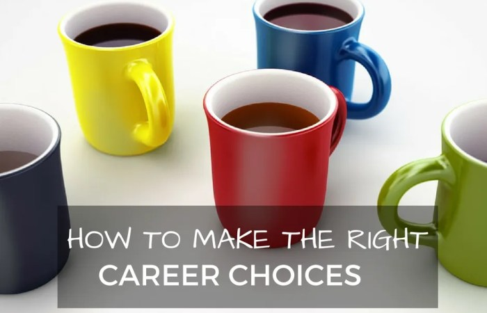 How To Make The Right Career Choices