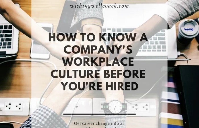 How to Know A Company's Workplace Culture Before You're Hired
