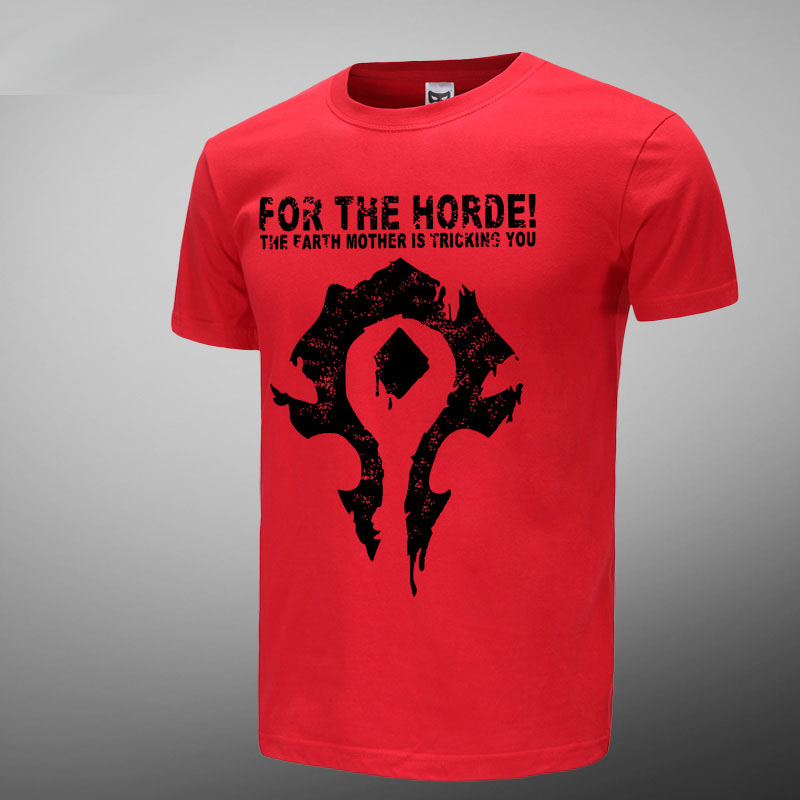 WOW For The Horde Logo Black T Shirts For Mens Wishining