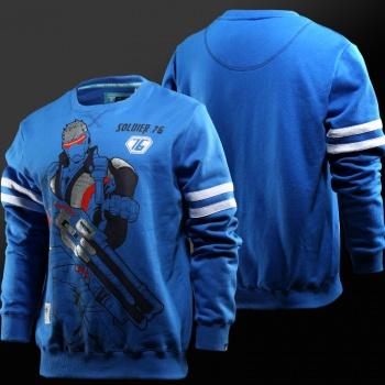 Blizzard Overwatch Genji Sweat Shirt Black Full Zipper