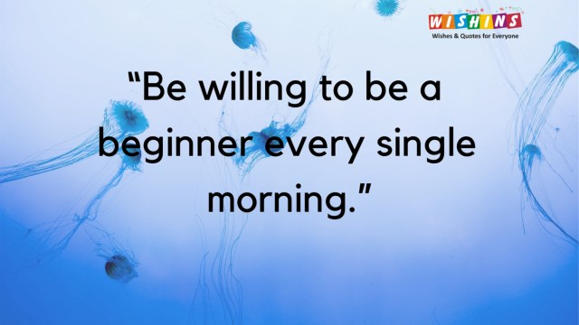 Morning Quote on blue Bachground