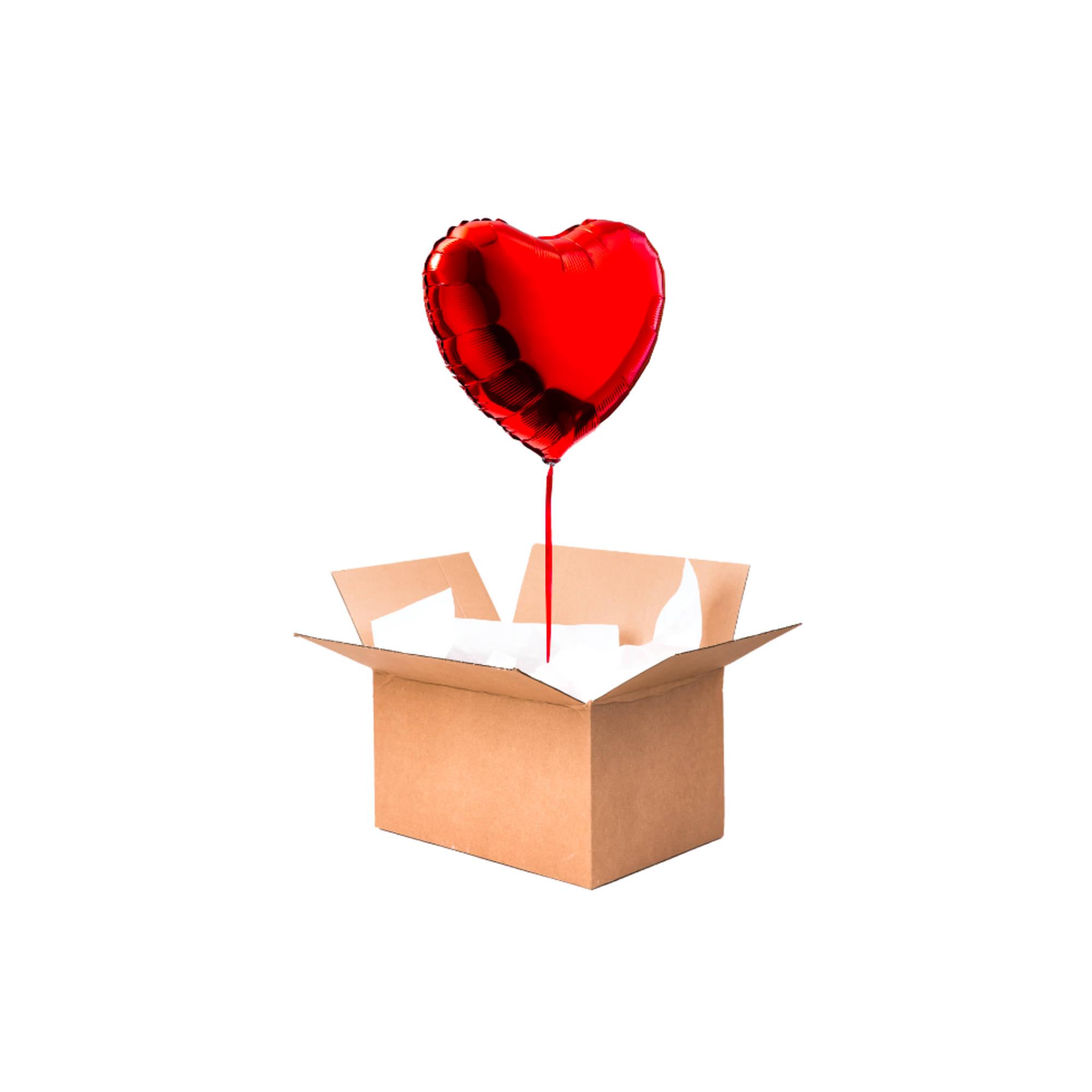 ballon rouge coeur helium a envoyer