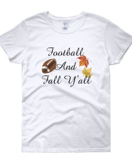 Football And Fall Y'all Women's short sleeve t-shirt