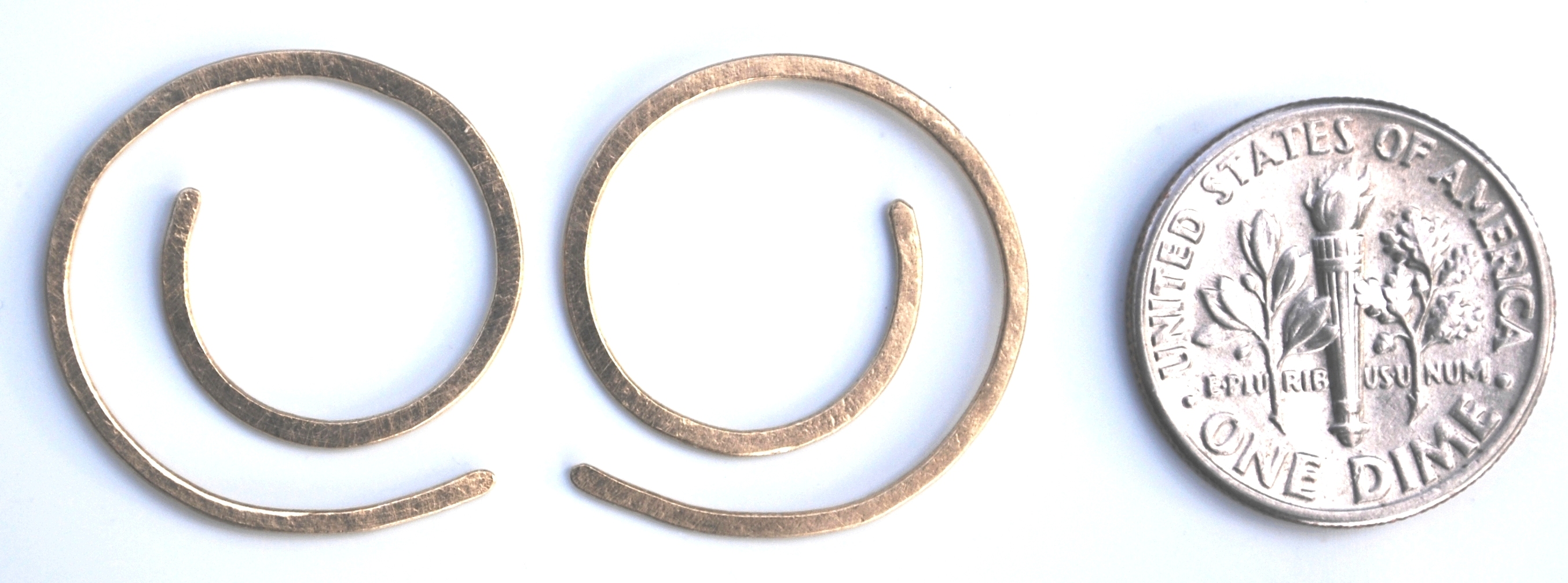 round spiral earrings with coin