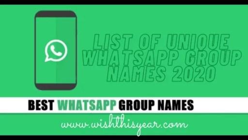 List of Unique WhatsApp Group Names 2020