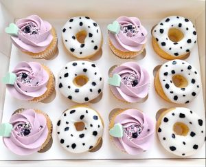 Mixed Donut Cup Cake Box