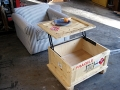 Coffee Table Crate Open