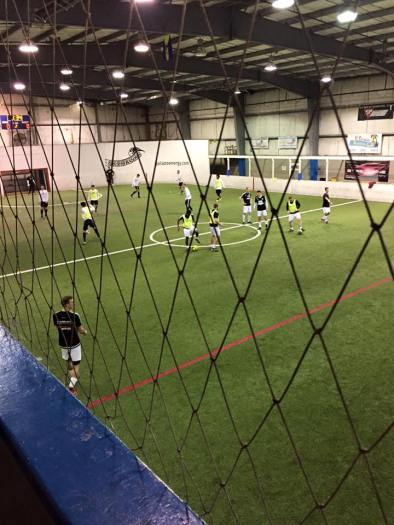Pre-game at Snohomish Soccer Dome.