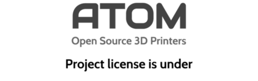 atom open source 3d printer