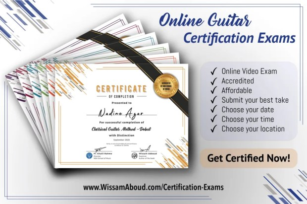 Online Guitar Certification Exams