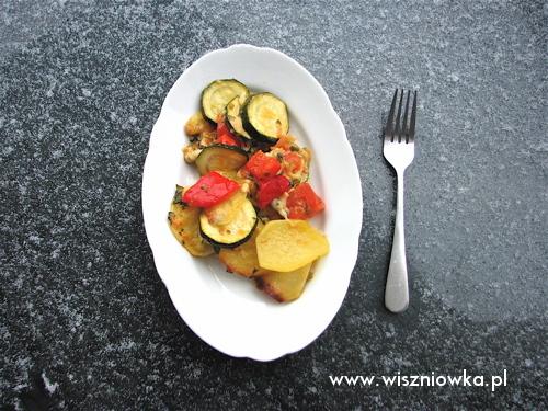 zapiekanka warzywna z parmezanem