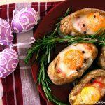 Pieczone ziemniaczki z jajkiem