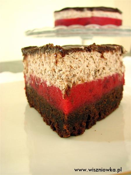 torcik ze śliwkami w czekoladzie