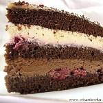 """Tort w stylu szwarcwaldzkim –  Tort """"Czarny las"""""""