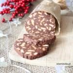 """""""Czekoladowe salami""""-  włoski deser Salame di cioccolato"""