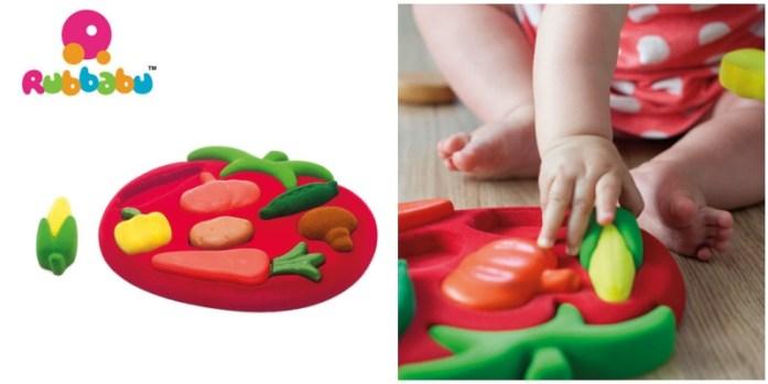 Sorter Puzzle 3D Warzywa sensoryczny, Rubbabu