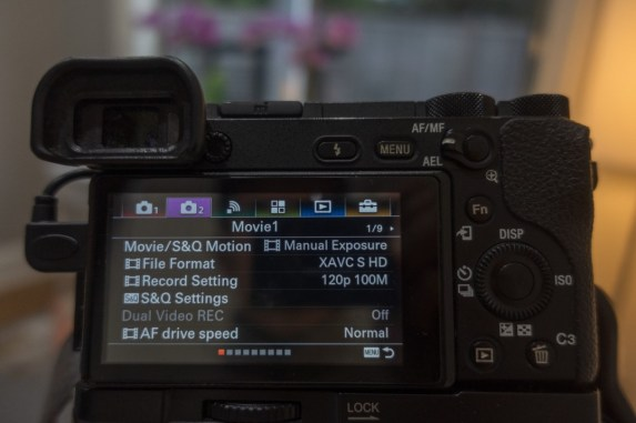 camera 2 tab highlighted - how to shoot slow motion with sony a6500 - witandfolly.co