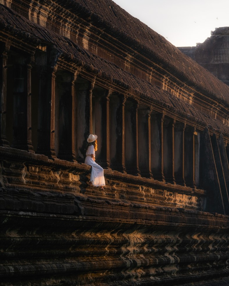 Angkor Wat South Side at Sunrise - witandfolly.co