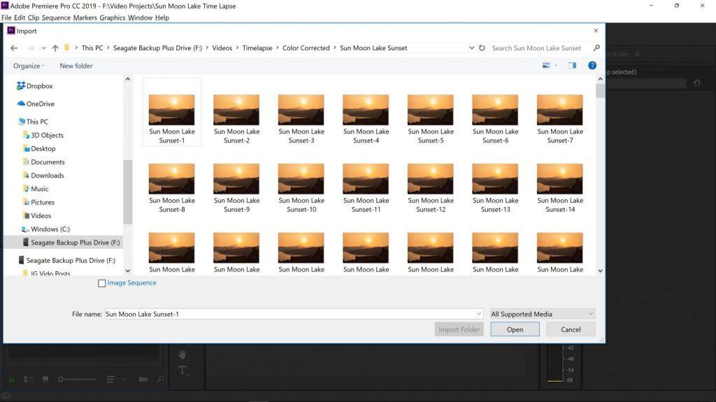 Import Media Dialog Box Adobe Premiere Pro - witandfolly.co
