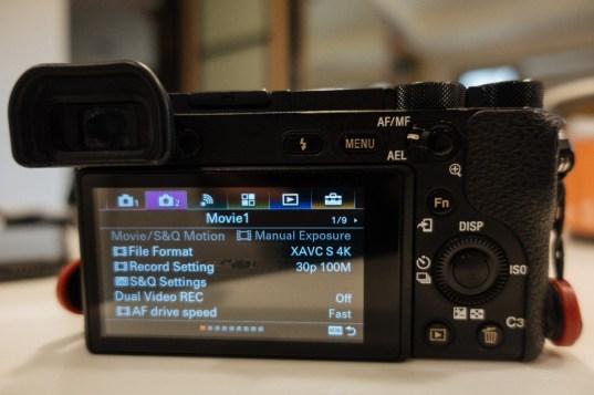 Menu camera 2 tab on Sony a6500 - sony a6500 audio settings - witandfolly.co