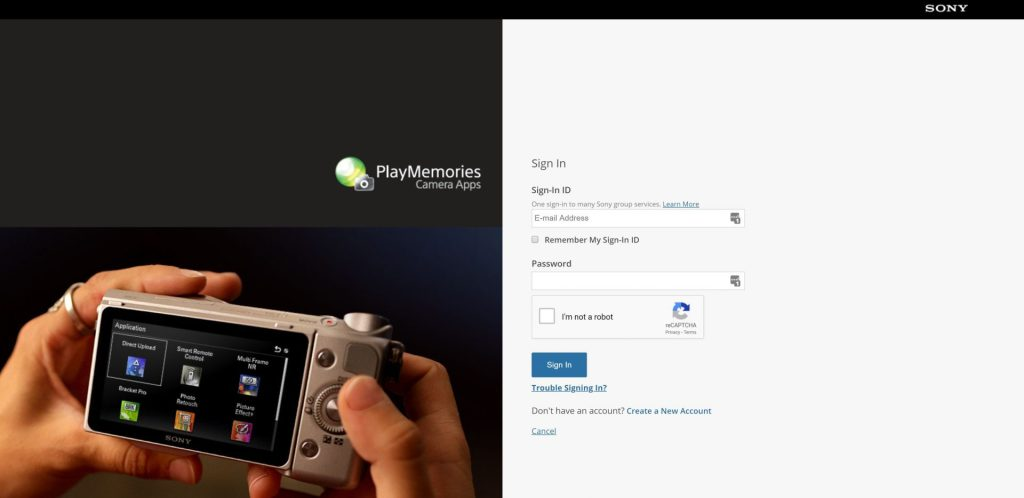 Sony Account Login Screen - witandfolly.co
