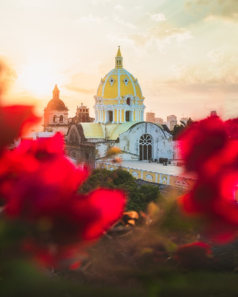 San Pedro Claver Church at Sunset Portrait Format - witandfolly.co