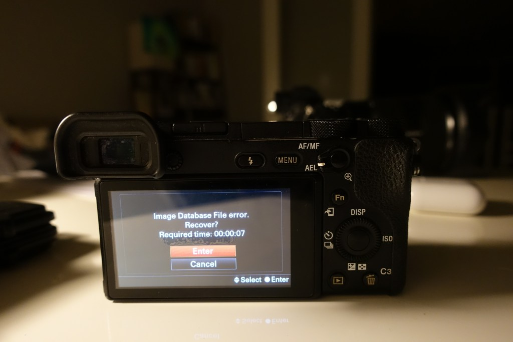 image-database-file-error-recover-sony-a6500