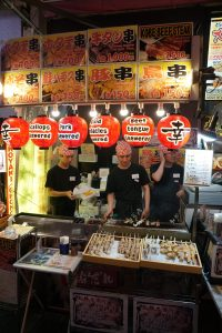 picture of food stall in dontonburi osaka
