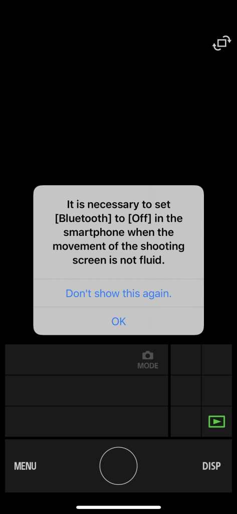 message box in the imaging edge mobile app