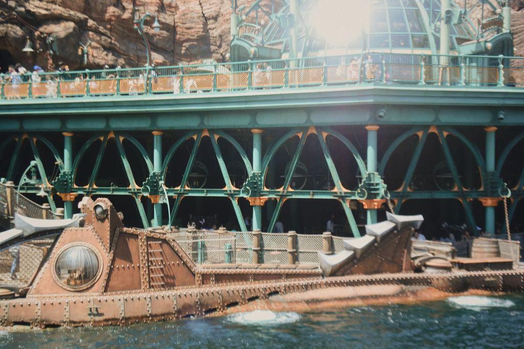 submarine at disneysea in japan